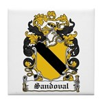 Sandoval Coat of Arms Tile Coaster