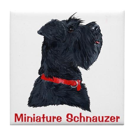 Miniature Schnauzer Tile Coaster
