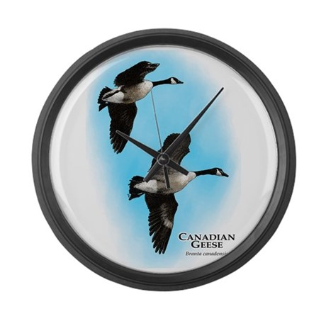 canadian geese large wall clock by wildlifearts