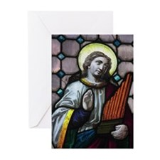 St Cecilia Greeting Cards (Pk of 10)