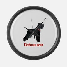 Miniature Schnauzer Large Wall Clock