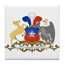 Chile Coat of Arms Tile Coaster