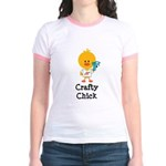 Crafty Chick Jr. Ringer T-Shirt