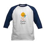 Crafty Chick Kids Baseball Jersey
