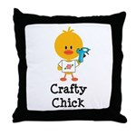 Crafty Chick Throw Pillow