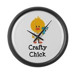 Crafty Chick Large Wall Clock