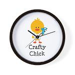 Crafty Chick Wall Clock