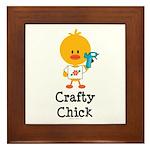 Crafty Chick Framed Tile