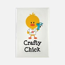 Crafty Chick Rectangle Magnet (10 pack)
