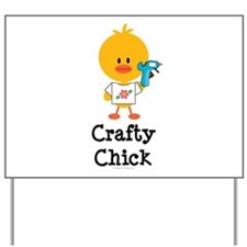 Crafty Chick Yard Sign