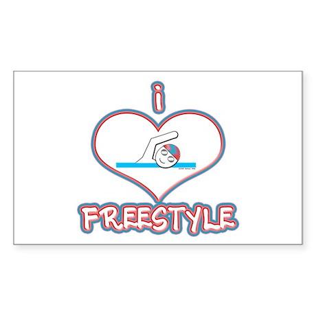 I Love Freestyle! Rectangle Sticker