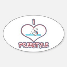 I Love Freestyle! Oval Decal