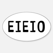 EIEIO Sticker (Oval)