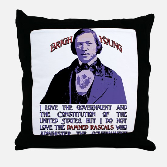 Brigham on Damned Rascals Throw Pillow