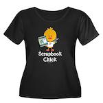 Scrapbook Chick Women's Plus Size Scoop Neck Dark