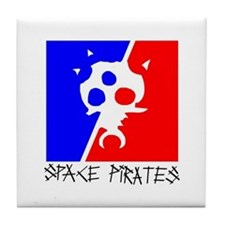 Funny Space pirate Tile Coaster