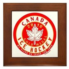 CA Canada Hockey Gold Medal Framed Tile