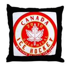 CA Canada Hockey Gold Medal Throw Pillow