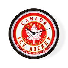 CA Canada Hockey Gold Medal Wall Clock