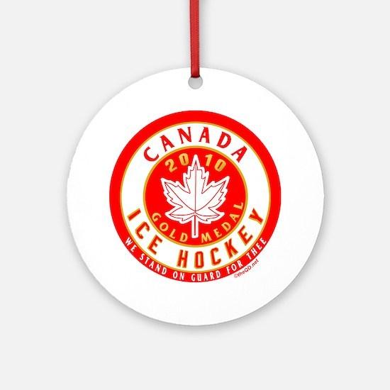 CA Canada Hockey Gold Medal Ornament (Round)
