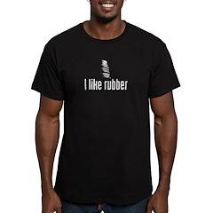 I like rubber Men's Fitted T-Shirt (dark)