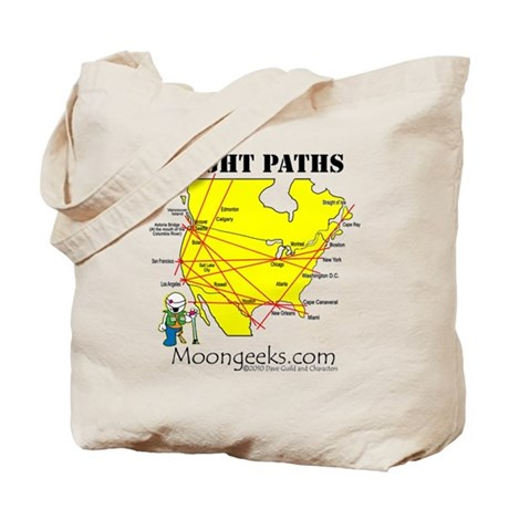 Flight Paths Tote Bag