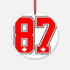 Canada Hockey Gold Medal 87 Ornament (Round)