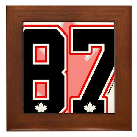 Canada Hockey Gold Medal 87 B Framed Tile