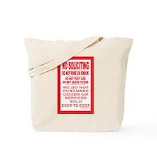 Cute No solicitation Tote Bag