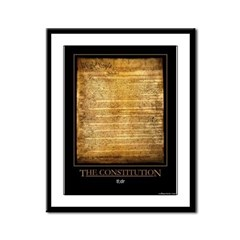 The Constitution Framed Panel Print