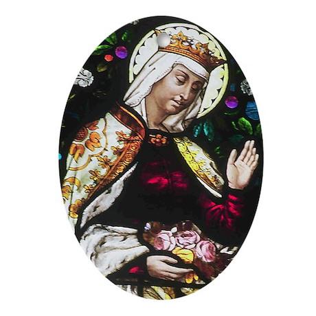 St Elizabeth Oval Ornament
