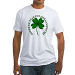 Four Leaf Clover (Gaelic) Fitted T-Shirt