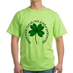 Four Leaf Clover (Gaelic) Green T-Shirt