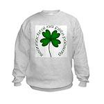 Four Leaf Clover (Gaelic) Kids Sweatshirt