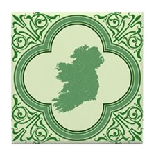 Vintage Irish Map Tile Coaster