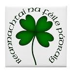 Four Leaf Clover (Gaelic) Ceramic Tile