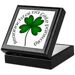 Four Leaf Clover (Gaelic) Keepsake Box