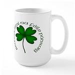 Four Leaf Clover (Gaelic) Large Mug