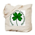 Four Leaf Clover (Gaelic) Tote Bag