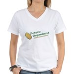 Potato Dependent Women's V-Neck T-Shirt
