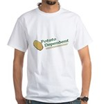 Potato Dependent White T-Shirt