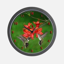 Hummingbird pair Wall Clock