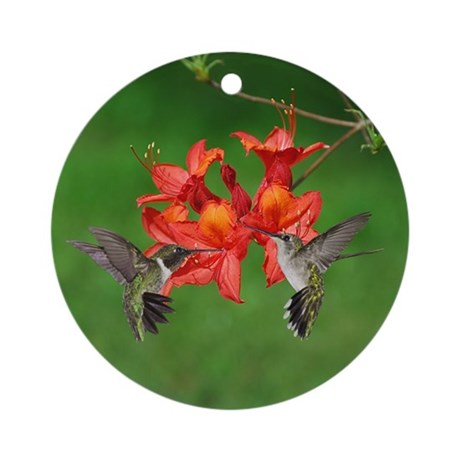 Hummingbird pair Ornament (Round)