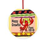 Crawfish Ornament (Round)
