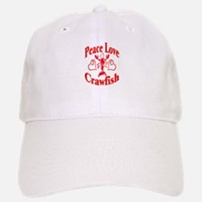 Peace Love Crawfish Baseball Baseball Cap