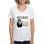 Abstinence: 99.99% Effective Women's V-Neck T-Shir