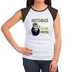 Abstinence: 99.99% Effective Women's Cap Sleeve T-