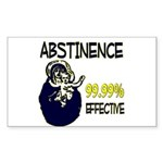 Abstinence: 99.99% Effective Sticker (Rectangle)