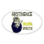 Abstinence: 99.99% Effective Sticker (Oval 10 pk)
