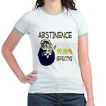 Abstinence: 99.99% Effective Jr. Ringer T-Shirt